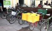 Bicicletário do Mercado em uso