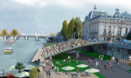 Orla do Sena em Paris depois.