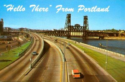 Harbor Drive em Portland nos anos 60.