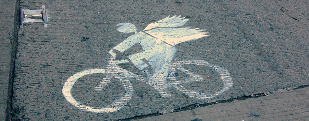 Right-of-Way-Guerilla-Bike-Lanes-Angel-Wings-Cyclist-Vigilante-NYC-Street-Art