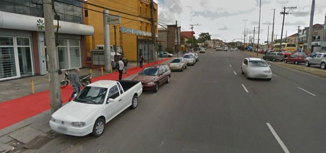 Avenida Assis Brasil com ciclovia projetada.
