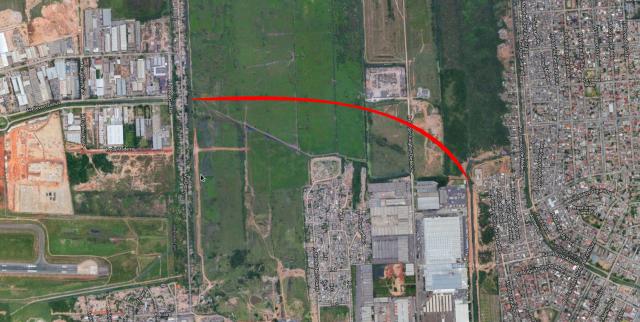 Trecho por onde passará extensão da D. Alzira é das últimas áreas verdes da Zona Norte.