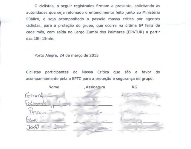 documento dos ciclistas pelo acompanhamento da massa críticasem nome1